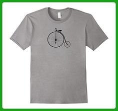 Mens Penny Farthing Bike Retro Bicycle Cycling T Shirt Cyclists Large Slate - Retro shirts (*Amazon Partner-Link)
