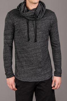 Lantern Cowl Collar Lightweight Sweater