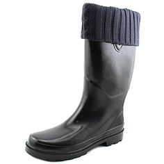 Chooka Sewn Knit Cuff Women US 7 Black Rain Boot UK 45 EU 375 >>> This is an Amazon Affiliate link. You can get more details by clicking on the image.