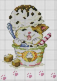 Foto's Cross Stitch Letters, Cross Stitch Art, Cross Stitch Animals, Cross Stitch Flowers, Cross Stitch Designs, Cross Stitching, Cross Stitch Embroidery, Stitch Patterns, Fantasy Cross Stitch