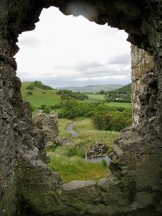 "view of the countryside from the Rock of Dunamase. ""Dunamase or The Rock of Dunamase is a rocky outcrop in the townland of Park or Dunamase in County Laois Ireland"""