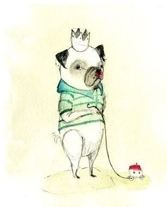 PUG Eduardo Print by Holli - So cute, so eclectic