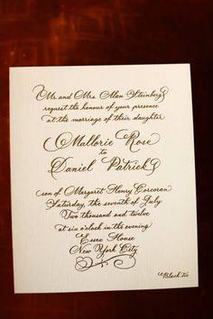 Black and White Calligrapy Invitations