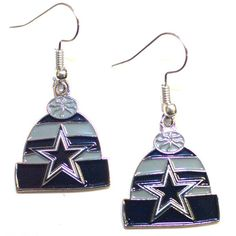Dallas Cowboys Knit Hat Dangle Earrings