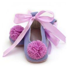Flower Girl Ballet Flats  Purple Baby Toddler by ElkKidsBoutique