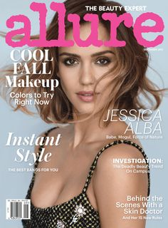 Jessica Alba looks gorgeous on the cover of the September 2015 issue of Allure, and while she's, of course, sharing beauty tips and talking about her past hair and makeup mistakes, she's also opening up about her business and comparisons to other celebrity moguls.