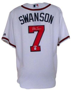 Dansby Swanson Signed Atlanta Braves Majestic Cool Base Baseball Jersey BAS 7dd0173c7