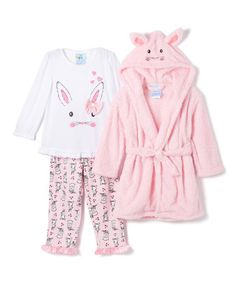 Bunz Kidz Pink   White Bunny Hop Pajama Set - Toddler 8c8aa6dc5