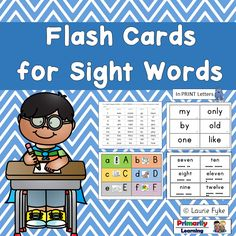 #Sightwords for #kindergarten &  grade one children.  An amazing primary class resource. Some of the  words can be sounded out. Most of the words use the alternate spellings that must be taught. (e.g. to, me, go, came, back)    Some of the words are simply tricky to read or spell!   (available in Print Letters or Sassoon Font)  Click here to learn more!