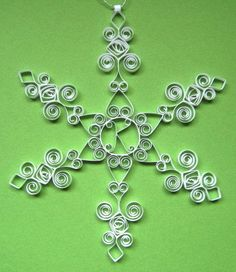 Personalized Ornament Custom Monogram K white quilled snowflake ornament gift packaged Christmas decoration on Etsy, $19.50