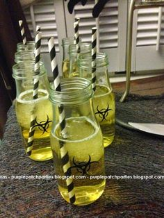 Walking Dead Party - Toxic beverages  #thewalkingdead #cookingdead