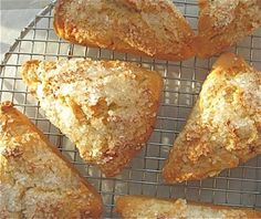 These tender buttery scones are gluten-free. Gluten Free Recipes For Breakfast, Wheat Free Recipes, Gluten Free Breakfasts, Gf Recipes, Dairy Free Recipes, Cooking Recipes, Italian Recipes, Gluten Free Pastry, Gluten Free Biscuits