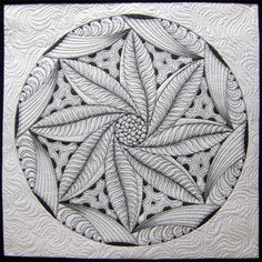 Zentangle - this is a quilt by Pat Ferguson
