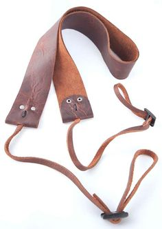 Leather Camera Strap- Reminder of what to do with my piece of metallic croc leather....