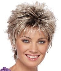"""Short Sassy (not Gray)  Bangs 3"""" - Sides 3"""" - Crown 3"""" - Nape 3""""(wish my hair could do this but it's too fine)"""
