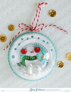 Snowman Ornament by Betsy Veldman for Papertrey Ink (November 2014)