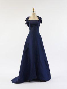 1948 silk evening gown