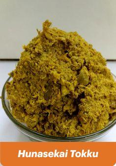 Hunasekai Thokku or Hunase Tokku is a type of dry chutney prepared using raw tamarind, green chili and fenugreek seeds. This Tamarind Thokku or chutney is a quite popular in North Karnataka Tamarind Recipes, Tamarind Chutney, Karnataka, Chili, Flora, Seeds, Popular, Dishes, Type