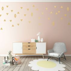 Triangle wall decals baby nursery wall decor par wordybirdstudios