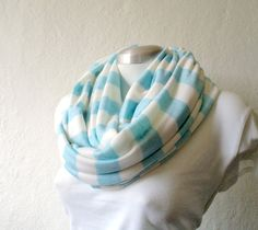 Striped Infinity scarf cowl tube scarf in light by CheriDemeter, $24.00