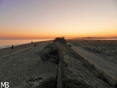 Tramonto sulla spiaggia di Maguelone