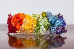 Rainbow Floral Crown - Flower Halo in Colorful Flowers - Flowergirl hairpiece - Newborn Photo Prop - Wedding Crown - Floral Hairpiece by LittleLadyAccessory on Etsy https://www.etsy.com/listing/502597725/rainbow-floral-crown-flower-halo-in