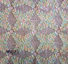 """This pattern is for a blanket using a granny square design. Squares are 7"""" x 7"""". Make as many as you need for desired blanket size."""