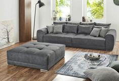 Jockenhöfer Gruppe Big-Sofa | cnouch Xxl Sofa, Big Sofas, Living Room Sofa, Ottoman, Furniture, Home Decor, Lounge, Room Ideas, Products