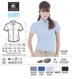URID Merchandise -   CAMISA B&C OXFORD SENHORA  MANGA CURTA   18.34 http://uridmerchandise.com/loja/camisa-bc-oxford-senhora-manga-curta/