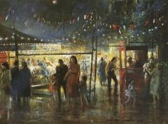 Street Carnival, Drawing by Everett Shinn (1876-1953, United States)
