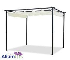 Alium™ Delray Sonnendach-Rahmen und Sonnendach - 3,1 m x 3,5 m
