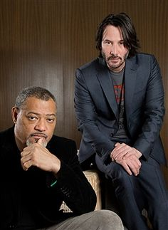 Keanu Reeves and Laurence Fishburne are photographed for Los Angeles Times on January 27, 2017 in Los Angeles, California. PUBLISHED IMAGE.