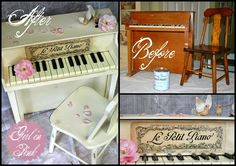 Girl in Pink: Le Petit Piano: A French Style Makeover for a Tiny Piano