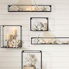 E-HOME® Metal Wall Art Wall Decor, Rectangular Wall Decor Set of 5 – USD $ 119.99