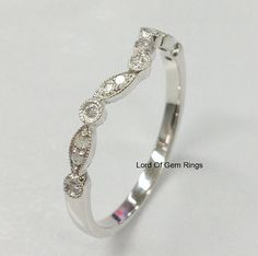 Hey, I found this really awesome Etsy listing at https://www.etsy.com/listing/226632229/diamond-wedding-matching-band14k-white