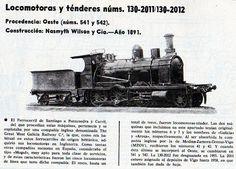Locomotoras y ténderes 1891.  Vía Libre