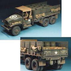 GMC 2 Ton 6x6 Truck Tamiya 1/35 scale by Huang He From: missing-lynx #scalemodel #plastimodelismo #miniatura #miniature #miniatur #hobby #diorama #humvee #scalemodelkit #plastickits #usinadoskits #udk #maqueta #maquette #modelismo #modelism