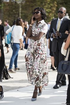 Paris Fashion Week ss 2015 day 7, outside Valentino
