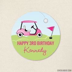 Paper goods and DIY printables for parties and holidays 3rd Birthday, Birthday Parties, Golf Party, Personalized Stickers, Party Favor Bags, Perfect Party, Paper Goods, Gift Wrapping, Prints