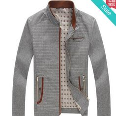 Jacket - Gray and Red Geometrical design Casual Autumn Coat - On Sale for $158.99 (was $179.99) @runit365 #jacket #trendy #classy