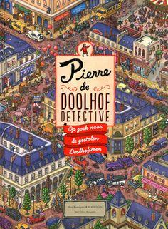 De Doolhofsteen is gestolen door meesterdief Mr. X. Alleen Pierre, de Doolhofdetective, kan de zaak oplossen. Help je mee? Groot formaat zoekplatenboek met zeer gedetailleerde kleurenillustraties en allerlei zoekopdrachten. Vanaf ca. 8 jaar.