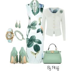 Ted Baker Dress & Cardigan by pkoff on Polyvore featuring moda, Ted Baker, Jimmy Choo, Fendi, Invicta, LC Lauren Conrad, Carolee and Alexis Bittar
