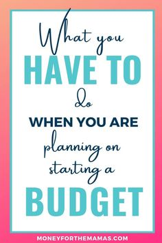 This is part in a 5 part series. Your Ultimate Guide on How to Budget. What you have to do when you are planning on starting a budget Budgeting Finances, Budgeting Tips, Making A Budget, Making Ideas, Ways To Save Money, Money Tips, Family Budget, Frugal Family, Money Saving Mom