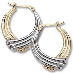 Hoop Earrings https://www.goldinart.com/shop/14k-earrings/hoop-earrings #HoopEarrings, #YellowAndWhiteGold
