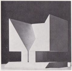 Aldo Rossi, maquette for Memorial to the German Opposition. Model Architecture, Monumental Architecture, Architecture Drawings, Interior Architecture, Aldo Rossi, Arch Model, Visualisation, Louis Kahn, James Turrell