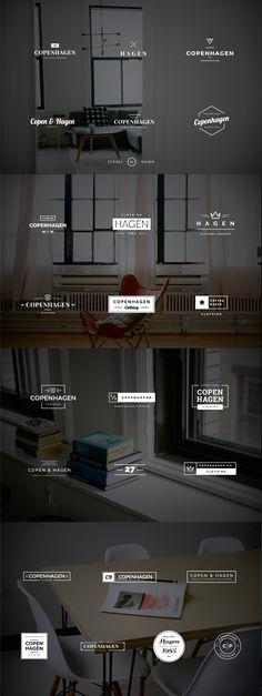 Copenhagen - 25 Minimalistic Logos by Worn Out Media Co. on Creative Market