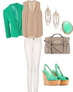 """Teal blazer"" by panda99984 on Polyvore"