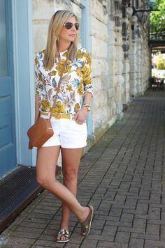 Outfit ideas with white shorts