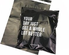 100 Custom black poly mailers bag, custom shipping bag with one color logo, custom glossy black postage bag Clothing Packaging, Fashion Packaging, Custom Packaging, Brand Packaging, Packaging Ideas, Shirt Packaging, Candle Packaging, Clothing Labels, Ecommerce Packaging