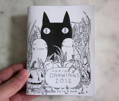 Various Drawings 2012 Zine, via Etsy.